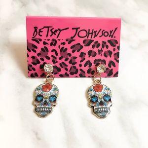 🎉 NWT Betsey Johnson Day of the Dead Skull Stud Earrings